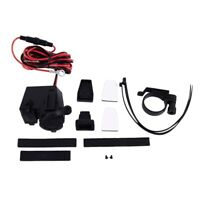 12v Waterproof Motorbike USB Power Socket Adapter Charger Outlet Motorcycle W4Q1