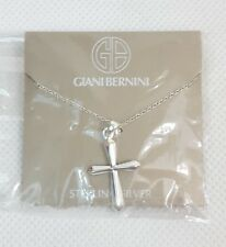 """Giani Bernini Sterling Silver CROSS PENDANT with 18"""" Chain .925 NECKLACE NEW"""