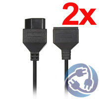 LOT 2x 6 ft Extension Cable for Original 1985 Nintendo NES Controller