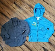 Lot of 2 Boys tops Size 3 Baby Gap Button Up and Size 4 years Baby Diesel Hoodie