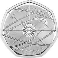 2017 UK SIR ISAAC NEWTON UNCIRCULATED COIN BU 50P FIFTY PENCE- OFFICIAL UK ISSUE