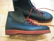 ARCHE France men's black pebble leather boots with red soles worn twice $595