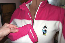 Cream Pink MINNIE MOUSE Full Zip DISNEY STORE Fleece Jacket/Size XS (2/4)