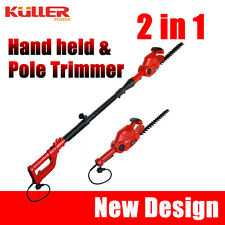 New KULLER Electric 450W Pole / Handheld Hedge Trimmer Hedger Garden Tools 2in1
