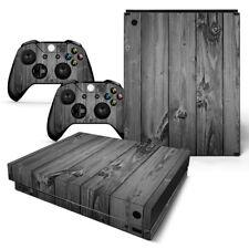 Xbox One X design pelle sventa Adesivo Pellicola Protettiva Set - Grey legno