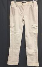 White House Black Market White Cargo Pants Slim Leg 4R - NWT