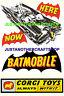 Corgi Toys 267 Batman Batmobile A3 Size Poster Advert Leaflet Shop Display Sign