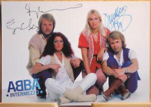 ABBA Orig Autogrammkarte DRUCKsigniert Musik Kult - AK