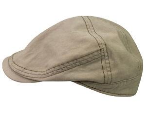 STETSON All American KAKI News Boy/Cabbie FITTED Sz Small/Medium Adult Hat Cap