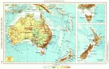 AUSTRALIA.Australien Neuseeland;Tasmanien Tasmania;Inset Schweiz 1958 old map