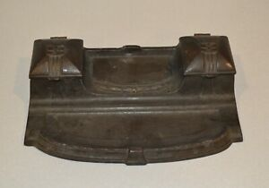Inkstand Brass Desktop Double Inkwell Old Antique Vintage style