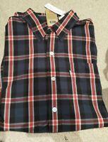 Levis SUPIMA Navy Check Long Sleeve Shirts. Navy Check Shirts. RRP £55