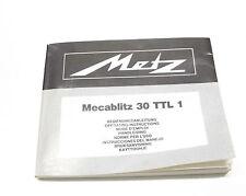Metz Mecablitz 30 TTL 1  Bedienungsanleitung