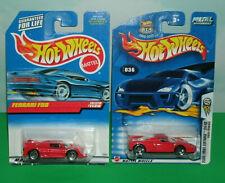 Two 1/64 Scale Ferrari SuperCar Diecast Vehicles (F50 and Enzo) Hot Wheels Cars