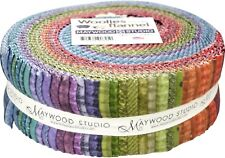 Maywood Studio Woolies Flannel Colors Jelly Roll 40 2.5 Inch Strips Soft Fabric
