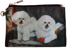 Bichon Frise Group Breed of Dog Zipper Lined Purse Pouch Perfect Gift