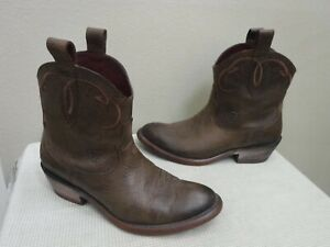 ARIAT BRISTOL 9.5 40.5 Brown Leather Western Cowboy Cowgirl Booties Heels Boots