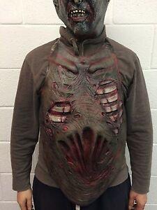 Zombie Torso Chest Piece Halloween Fancy Dress Zombie Guts Heart Vest Gore Apron