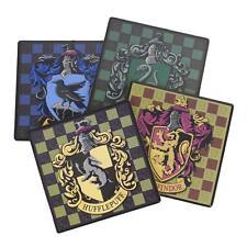 HARRY POTTER Licensed Deluxe HOGWARTS Mascots & House Crests 4pc COASTER SET