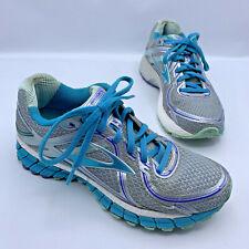 Brooks Adrenaline GTS 16 Women Blue Silver Running Shoe Size 7.5 Pre Owned