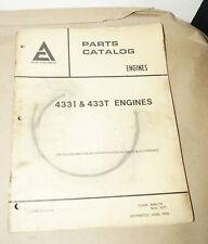 1977 Allis-Chalmers Models 433I & 433T Engines Service Parts Catalog 9005179