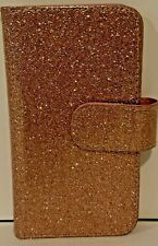 Apple iPhone 6 Pink Glitter 9 Slot Wallet Case For iPhone 6 Cell Phone