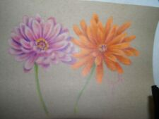 colored pencil drawing flowers dahlia flowers