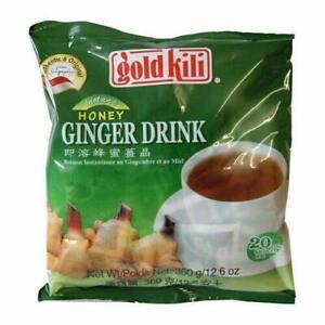 1 Pack of Gold Kili Instant Chinese Honey Ginger Tea Drink 20x18g Sachets