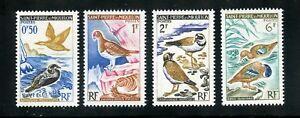 St. Pierre et Miquelon Complete MNH Set #362-365 Birds Stamps
