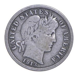 1913-S Barber Dime - Charles Coin Collection *874