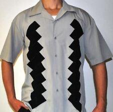 Mens Sz XL-Tall Bowling Shirt  Charlie Retro Vintage Rockabilly Casual BOX