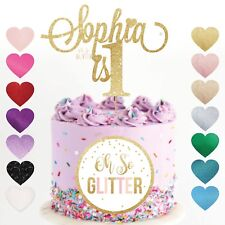 1st Name Cake Topper 1 glitter Custom Personalised Cake Topper 1 2 3 any age