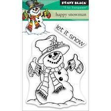 Penny Black Mini Clear Stamps - Happy Snowman 30-503