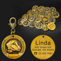 Copper Personalized Dog Tags Free Name Engraved Pet Tag with 18 Images of Dogs