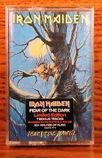 IRON MAIDEN - Fear of the Dark cassette NEW! SEALED!!! (Castle)  7 bonus songs!
