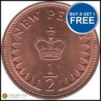 1971 to 1983 Elizabeth II DECIMAL HALF PENNY CHOOSE YOUR DATE
