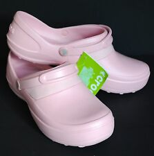 CROCS New with Tags Mercy Work Petal Pink Roomy Fit Women's Size 11