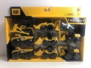 Caterpillar 8 Equipment Toy Backhoe Bull Dozer Excavator Wheel Loader Dump Truck