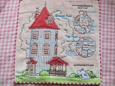 Moomin Valley Moomin House Mini Embroidery Edged  Hand Towel one piece