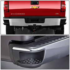 Chrome Rear Bumper w/Side Step Pad for 14-17 Chevy Silverado/GMC Sierra Pickup