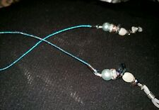 New blue Eyeglass/Sunglass Holder Lanyard Strap Beaded/Stretchy cord Artisan cra