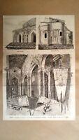 Palermo - La chiesa di S. Spirito, commemorazione dei Vespri Incisione del 1882