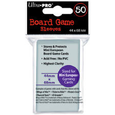 Ultra Pro - Board Game Sleeves -Mini European 44mm x 68mm - Clear - Brand New