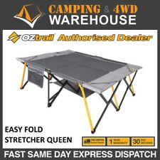 OZTRAIL EASY FOLD STRETCHER QUEEN SIZE CAMPING CAMP BED SUIT LEISURE MAT AIR BED