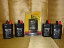4pk Upg 6volt 5ah Rechargeable Sealed 6v 5amp Battery Ac Charger W Led Lights