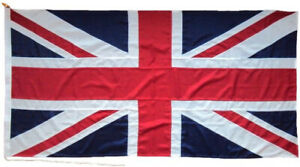 """Union Jack flag MoD approved traditional  sewn  1.5yd  54""""x27"""" size rope toggled"""