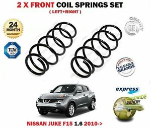 FOR NISSAN JUKE 1.6 F15 94BHP 117BHP 2010--> NEW 2 X FRONT COIL SPRINGS SET