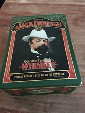 Vintage Jack Daniels Old Time Tennessee Whiskey Tin Box Old No 7 Brand MANCAVE