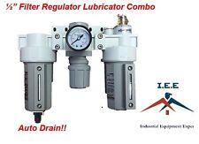 "1/2"" Air Filter Regulator Lubricator 3 pcs FRL"