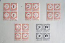 XL4707: Nigeria Mint 'Postage Due' Stamp Blocks to 1/- (1959)